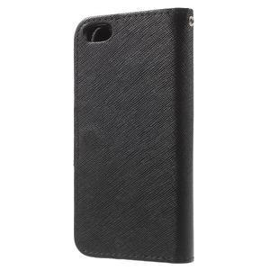 Cross PU kožené pouzdro na iPhone SE / 5s / 5 - černé - 2