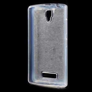 Povrchově třpytivý gelový obal na mobil Lenovo A2010 - šedý - 2