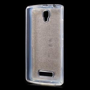 Povrchově třpytivý gelový obal na mobil Lenovo A2010 - zlatý - 2