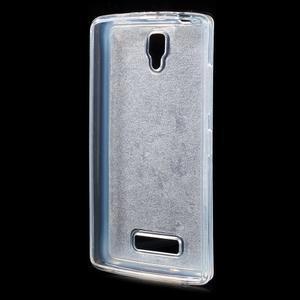 Povrchově třpytivý gelový obal na mobil Lenovo A2010 - tmavěmodrý - 2