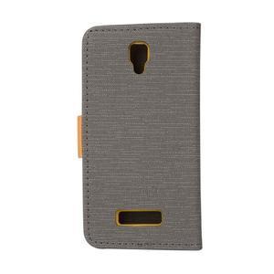 Clothy PU kožené na mobil Lenovo A2010 - šedé - 2