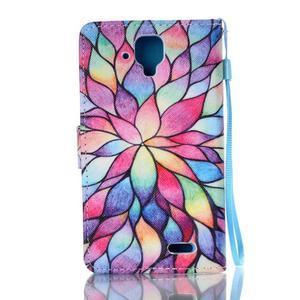 Emotive pouzdro na mobil Lenovo A536 - barevné lístky - 2
