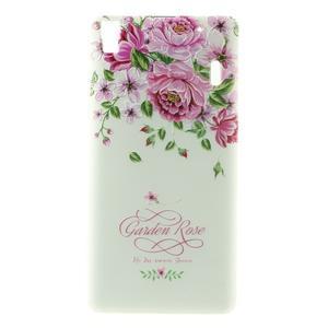 Softy gelový obal na mobil Lenovo A7000 / K3 Note - zahradní růže - 2