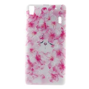 Softy gelový obal na mobil Lenovo A7000 / K3 Note - květy švestky - 2