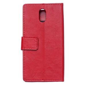 GX koženkové peněženkové na mobil Lenovo Vibe P1m - červené - 2