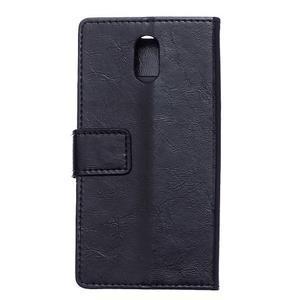 GX koženkové peněženkové na mobil Lenovo Vibe P1m - černé - 2