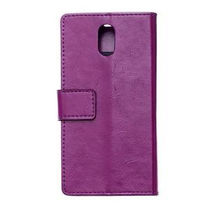 GX koženkové peněženkové na mobil Lenovo Vibe P1m - fialové - 2