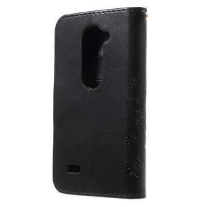 Buttefly PU kožené pouzdro na mobil LG Leon - černé - 2