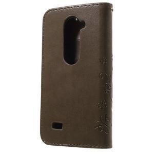 Buttefly PU kožené pouzdro na mobil LG Leon - coffee - 2