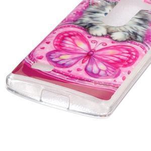 Jelly gelový obal na mobil LG Leon - koťátko - 2