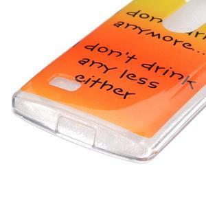 Jelly gelový obal na mobil LG Leon - drink - 2