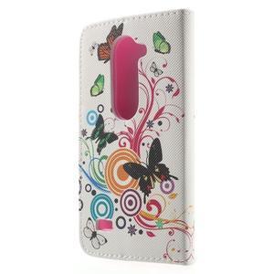 Emotive knížkové pouzdro na mobil LG Leon - motýlci - 2