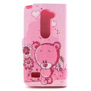 Style peněženkové pouzdro na LG Leon - medvídek - 2