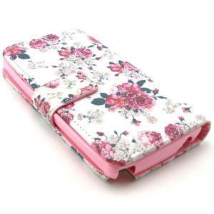 Style peněženkové pouzdro na LG Leon - květiny - 2