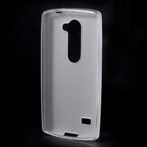 Matný gelový obal na mobil LG Leon - bílý - 2