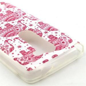 Pictu gelový obal na LG Leon - růžoví sloni - 2