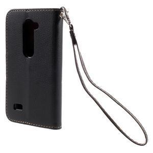 Leaf PU kožené pouzdro na mobil LG Leon - černé - 2