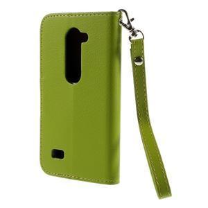 Leaf PU kožené pouzdro na mobil LG Leon - zelené - 2