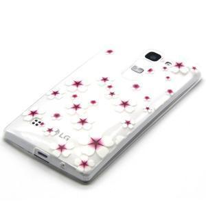 Transparentní gelový obal na mobil LG Spirit - květy třešní - 2