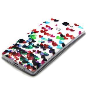 Transparentní gelový obal na mobil LG Spirit - srdíčka - 2