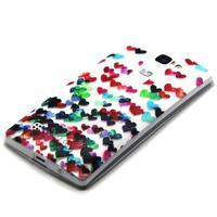 Transparentní gelový obal na mobil LG Spirit - srdíčka - 2/4