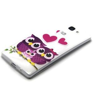 Transparentní gelový obal na mobil LG Spirit - zamilované sovičky - 2