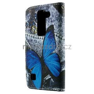 Peněženkové pouzdro na LG Spirit - modrý motýl - 2
