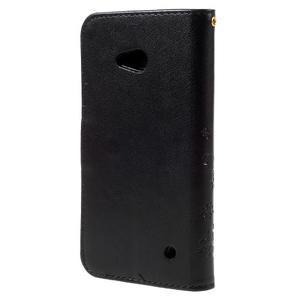 Butterfly PU kožené pouzdro na Microsoft Lumia 640 - černé - 2