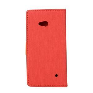 Wally koženkové pouzdro na mobil Microsoft Lumia 640 - červené - 2