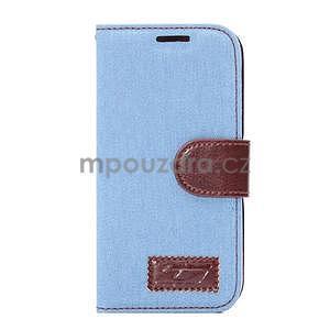 Jeans peněnžekové pouzdro pro HTC One Mini 2 - světle modré - 2