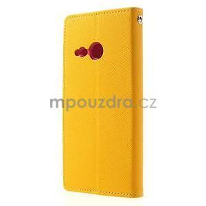 Style peněženkové pouzdro HTC One Mini 2 - žluté - 2