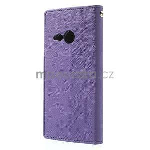 Style peněženkové pouzdro HTC One Mini 2 - fialové - 2