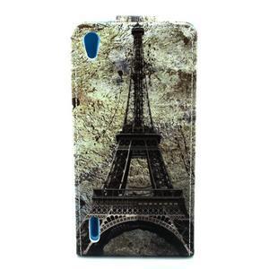 Flipové pouzdro na Huawei Ascend P7 - Eiffelova věž - 2