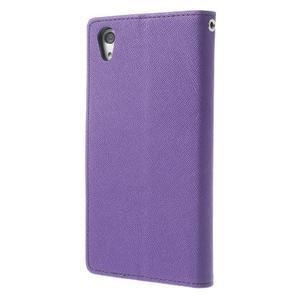 Fancy peněženkové pouzdro na Sony Xperia Z2 - fialové - 2