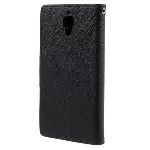 Mr. Fancy peněženkové pouzdro na Xiaomi Mi4 - černé/hnědé - 2