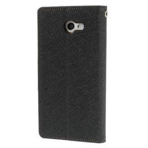Mr. Goos peněženkové pouzdro na Sony Xperia M2 - černé/hnědé - 2