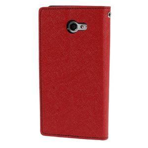 Mr. Goos peněženkové pouzdro na Sony Xperia M2 - červené - 2