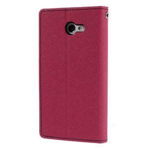 Mr. Goos peněženkové pouzdro na Sony Xperia M2 - rose - 2