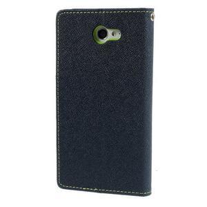 Mr. Goos peněženkové pouzdro na Sony Xperia M2 - tmavěmodré - 2