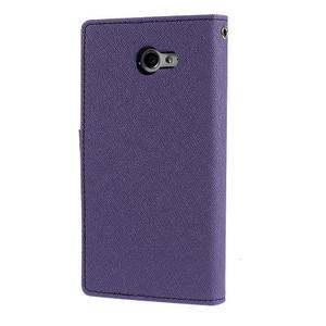 Mr. Goos peněženkové pouzdro na Sony Xperia M2 - fialové - 2