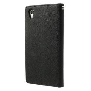 Fancy peněženkové pouzdro na Sony Xperia Z2 - černé - 2