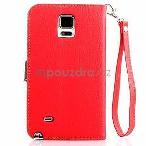 Peněženkové pouzdro s poutkem na Samsung Galaxy Note 4 - červené - 2