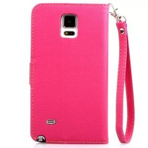 Peněženkové pouzdro s poutkem na Samsung Galaxy Note 4 - rose - 2