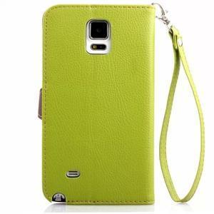 Peněženkové pouzdro s poutkem na Samsung Galaxy Note 4 - zelené - 2