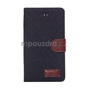 Elegantní penženkové pouzdro na Samsung Galaxy Note 4 - černé - 2