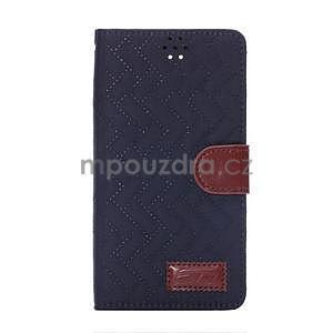 Elegantní penženkové pouzdro na Samsung Galaxy Note 4 - tmavě modré - 2