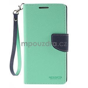 Stylové peněženkové pouzdro na Samsnug Galaxy Note 4 - azurové - 2
