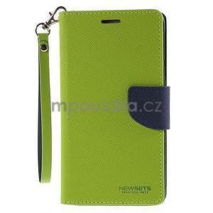 Stylové peněženkové pouzdro na Samsnug Galaxy Note 4 - zelené - 2