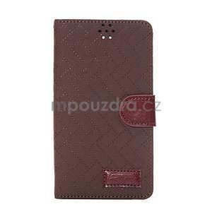 Elegantní penženkové pouzdro na Samsung Galaxy Note 4 - hnědé - 2