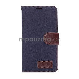 Jeans peněženkové pouzdro pro Samsung Galaxy Note 4 - tmavě modré - 2